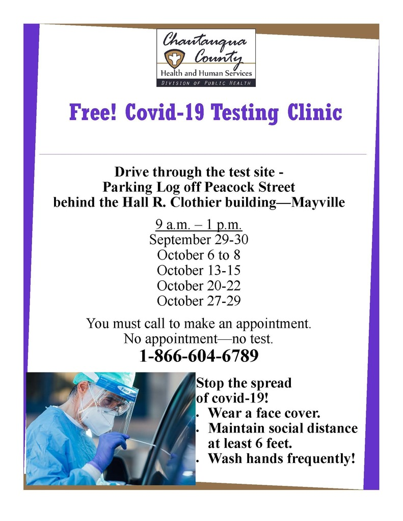 Free Covid Testing in Mayville